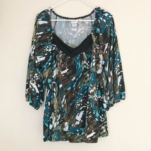 Jaclyn Smith Women's Top Size 2X Blouse Stretch